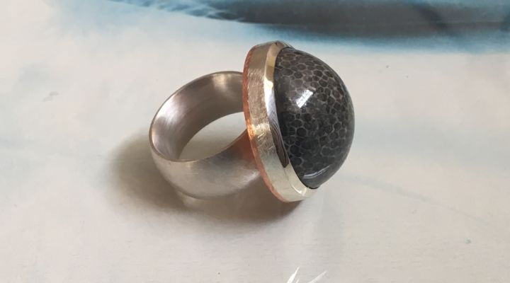 Ring fossile Koralle
