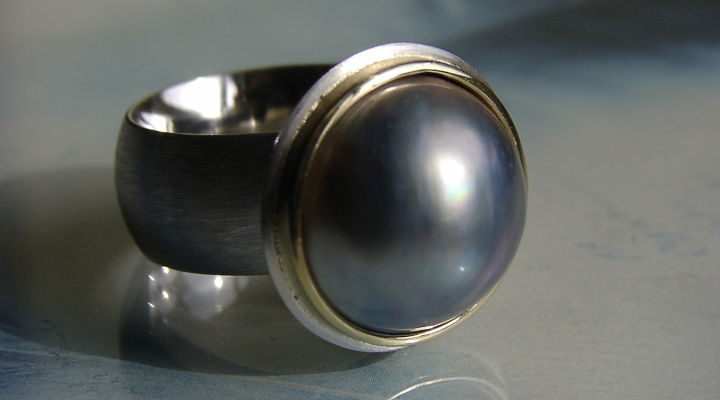 Ring mit Mabéperle